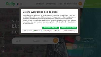 Site internet de Kelly Services