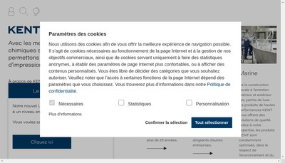 Site internet de Kent International SAS