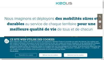 Site internet de Groupe Keolis SAS