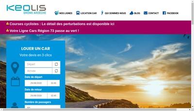 Site internet de Keolis Drome