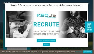Site internet de Keolis Lorraine