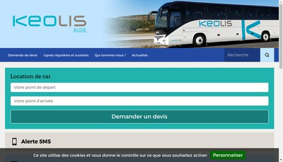Site internet de Keolis Aude