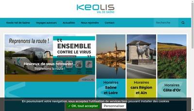 Site internet de Keolis Val de Saone