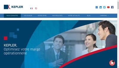 Site internet de Kepler Consulting Group
