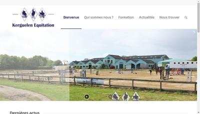 Site internet de Kerguelen Equitation