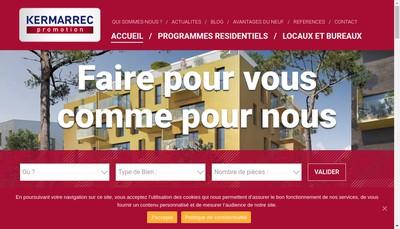 Site internet de Kermarrec Promotion