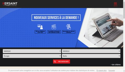 Site internet de Kersaint Auto