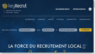 Site internet de Keyrecrut
