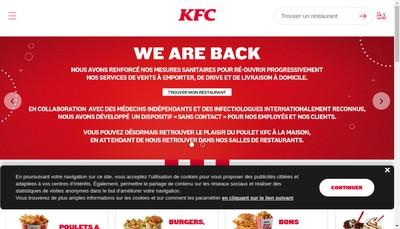 Site internet de Kfc