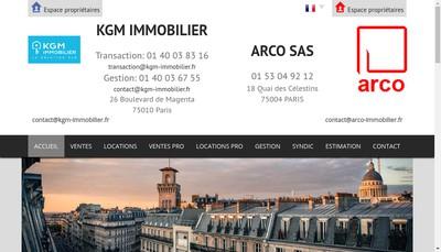Site internet de Kgm Immobilier
