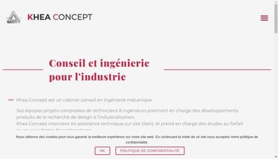 Site internet de Khea Concept