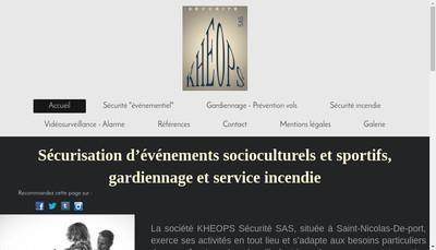 Site internet de Kheops Securite