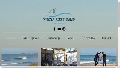 Site internet de Khoya Surf Camp