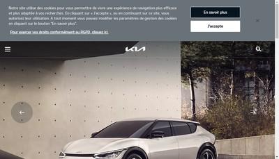 Site internet de Kia France
