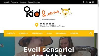 Site internet de Kid & Sens - K & S