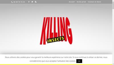 Site internet de Killing Insects