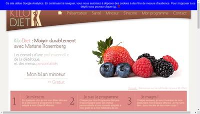 Site internet de Kilo Diet
