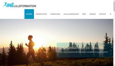 Site internet de Kine Lille Formation