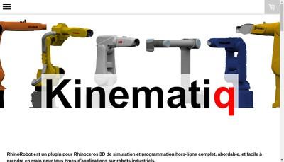 Site internet de Kinematiq