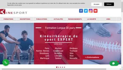 Site internet de Kinesport