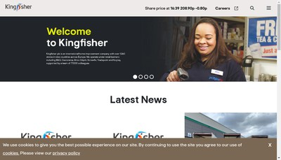 Site internet de Kingfisher France Services