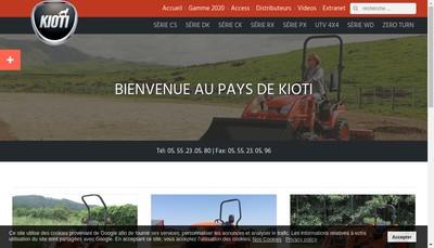 Site internet de Kioti France