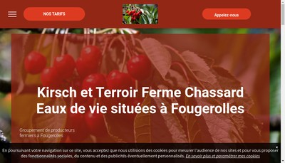 Site internet de Ferme Chassard