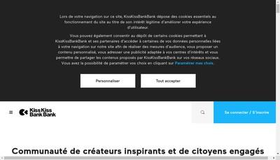 Site internet de KissKissBankBank