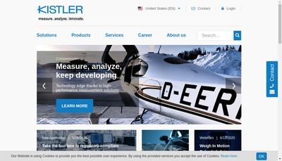 Site internet de Kistler France