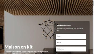 Site internet de Kit Maison Bois
