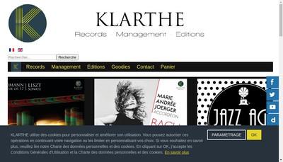 Site internet de Klarthe, Dream&Press