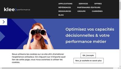 Site internet de Klee Performance
