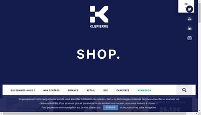 Site internet de Klepierre Management