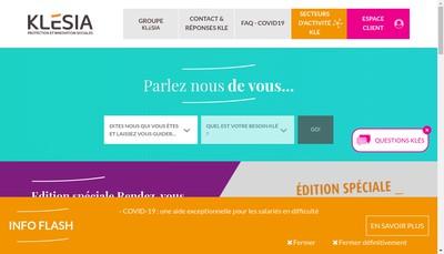 Site internet de Klesia Cotisations