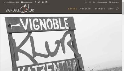 Site internet de Vignoble Klur