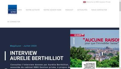 Site internet de Kmh - Asset