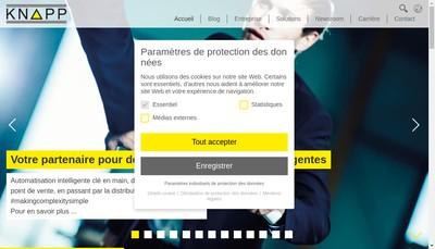 Site internet de Knapp France