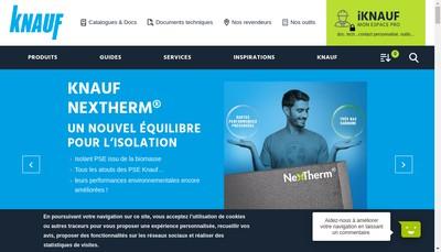 Site internet de Knauf Ile de France Ouest