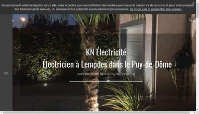 Site internet de Kn Electricite