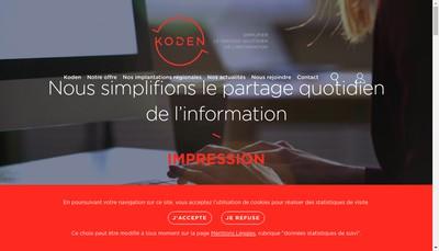 Site internet de Koden