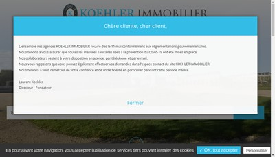 Site internet de Koehler Immobilier