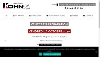 Site internet de Marc Arthur Kohn SAS
