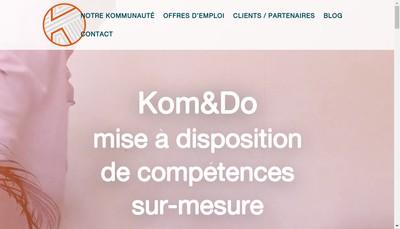Site internet de Kom & Do