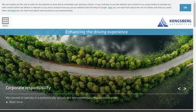 Site internet de Kongsberg Automotive SARL
