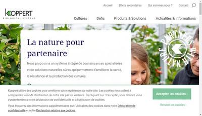 Site internet de Koppert France SARL