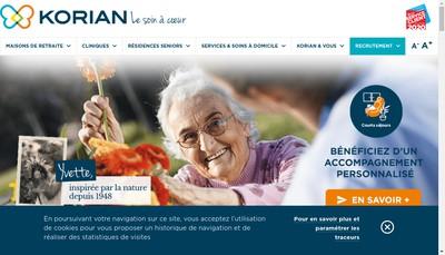 Site internet de Korian le Bastion