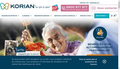 Site internet de Korian Saint Francois du Las