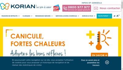 Site internet de Residence les Sansonnets