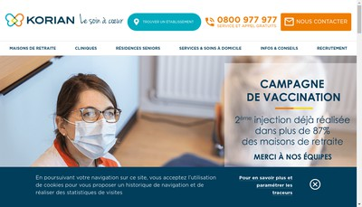 Site internet de Korian les Cassissines