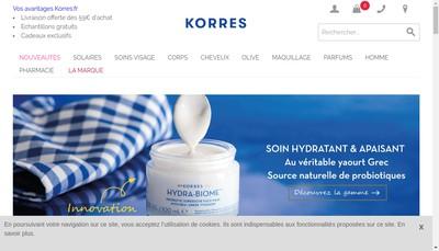 Site internet de KDF Korres Distribution France